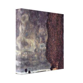 Gustav Klimt - The Great poplar or thunderstorm Canvas Print