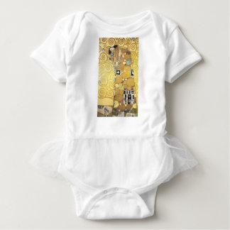 Gustav Klimt - The Hug - Classic Artwork Baby Bodysuit