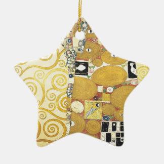 Gustav Klimt - The Hug - Classic Artwork Ceramic Ornament