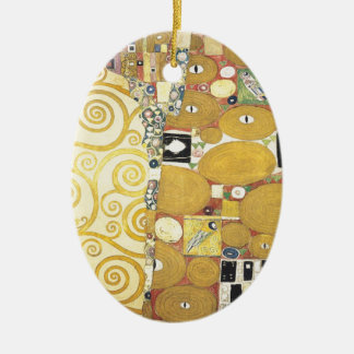 Gustav Klimt - The Hug - Classic Artwork Ceramic Ornament