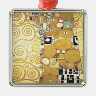 Gustav Klimt - The Hug - Classic Artwork Metal Ornament