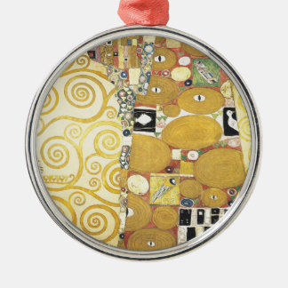 Gustav Klimt - The Hug - Classic Artwork Metal Ornament