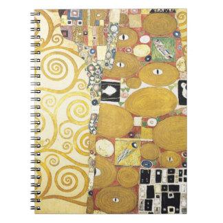 Gustav Klimt - The Hug - Classic Artwork Notebook