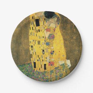 GUSTAV KLIMT - The kiss 1907 7 Inch Paper Plate