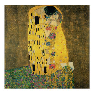 GUSTAV KLIMT - The kiss 1907 Poster