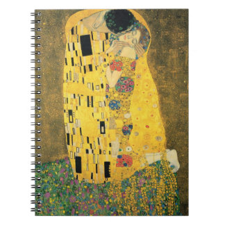 GUSTAV KLIMT - The kiss 1907 Spiral Notebook