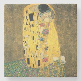 GUSTAV KLIMT - The kiss 1907 Stone Coaster