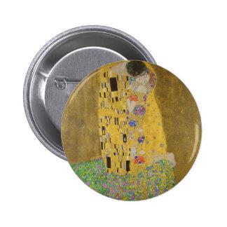 """Gustav Klimt """"The Kiss"""" 2 Inch Round Button"""