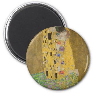 "Gustav Klimt ""The Kiss"" 2 Inch Round Magnet"