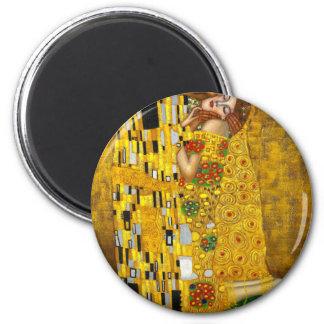 Gustav Klimt The Kiss 2 Inch Round Magnet