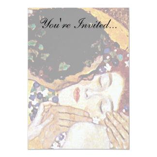 """Gustav Klimt - The Kiss 5"""" X 7"""" Invitation Card"""