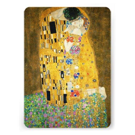 Gustav Klimt The Kiss Art Nouveau Custom Announcement