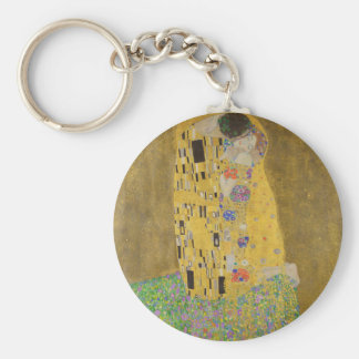"""Gustav Klimt """"The Kiss"""" Basic Round Button Keychain"""