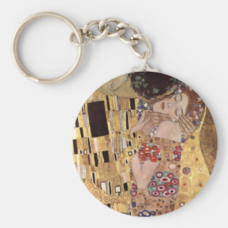 Gustav Klimt ~ the Kiss Basic Round Button Keychain
