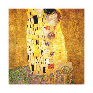 Gustav Klimt The Kiss Canvas Print