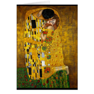 Gustav Klimt - The Kiss Card