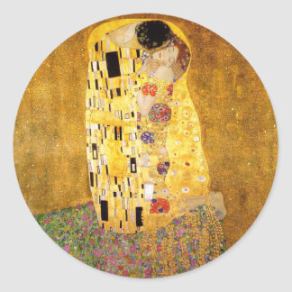 Gustav Klimt The Kiss Classic Round Sticker