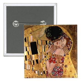 Gustav Klimt: The Kiss (Detail) Button