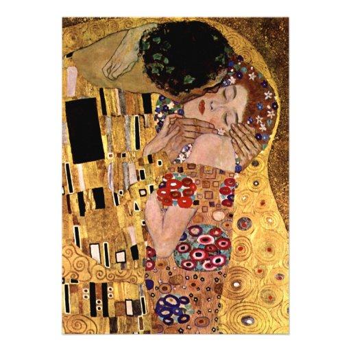 Gustav Klimt: The Kiss (Detail) Custom Invitations