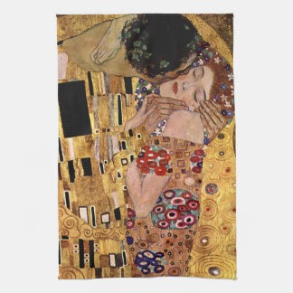 Gustav Klimt: The Kiss (Detail) Kitchen Towel