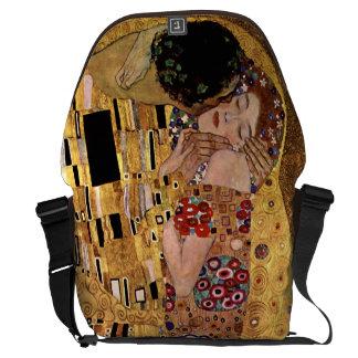 Gustav Klimt: The Kiss (Detail) Messenger Bags