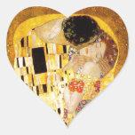 Gustav Klimt The Kiss Heart Sticker