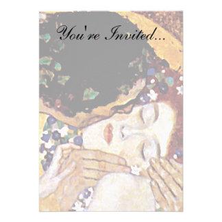 Gustav Klimt - The Kiss Personalized Invitations
