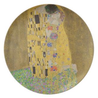 "Gustav Klimt ""The Kiss"" Party Plates"
