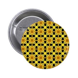Gustav Klimt The Kiss Pattern Yellow Black Gold Pinback Button