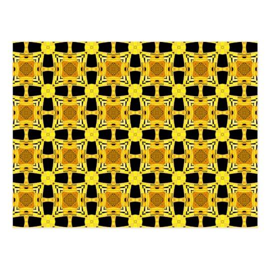 Gustav Klimt The Kiss Pattern Yellow Black Gold Postcard