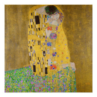 Gustav Klimt The Kiss Restored Vibrant Color Poster