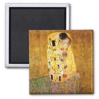 Gustav Klimt The Kiss Square Magnet