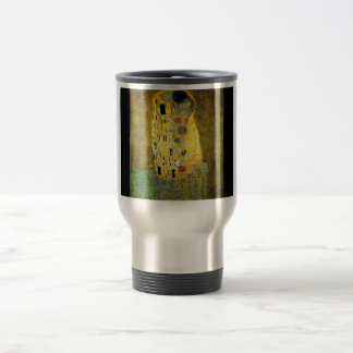 gustav-klimt-the-kiss travel mug