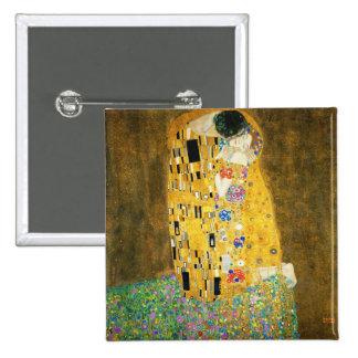 Gustav Klimt The Kiss Vintage Art Nouveau Painting 2 Inch Square Button