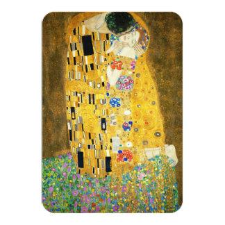 "Gustav Klimt The Kiss Vintage Art Nouveau Painting 3.5"" X 5"" Invitation Card"
