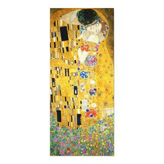 "Gustav Klimt The Kiss Vintage Art Nouveau Painting 4"" X 9.25"" Invitation Card"