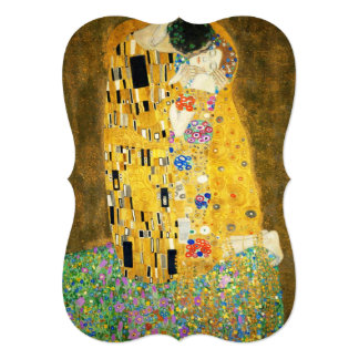 "Gustav Klimt The Kiss Vintage Art Nouveau Painting 5"" X 7"" Invitation Card"