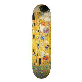 Gustav Klimt The Kiss Vintage Art Nouveau Painting Skate Decks