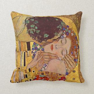 Gustav Klimt The Kiss Vintage Throw Pillow