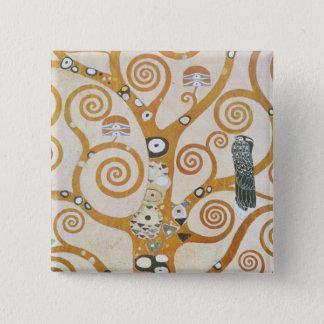Gustav Klimt The Tree Of Life Art Nouveau 2 Inch Square Button