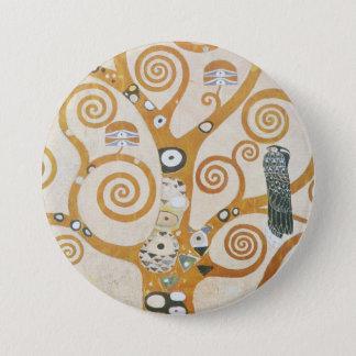 Gustav Klimt The Tree Of Life Art Nouveau 3 Inch Round Button
