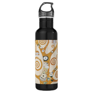 Gustav Klimt The Tree Of Life Art Nouveau 710 Ml Water Bottle