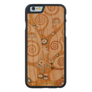 Gustav Klimt The Tree Of Life Art Nouveau Carved Cherry iPhone 6 Case