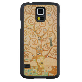 Gustav Klimt The Tree Of Life Art Nouveau Carved Maple Galaxy S5 Case