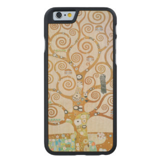 Gustav Klimt The Tree Of Life Art Nouveau Carved Maple iPhone 6 Case