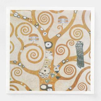 Gustav Klimt The Tree Of Life Art Nouveau Disposable Napkin
