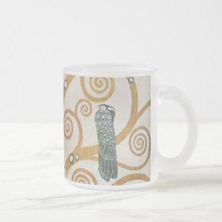 Gustav Klimt The Tree Of Life Art Nouveau Frosted Glass Coffee Mug
