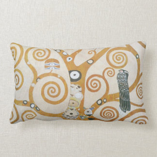 Gustav Klimt The Tree Of Life Art Nouveau Lumbar Pillow