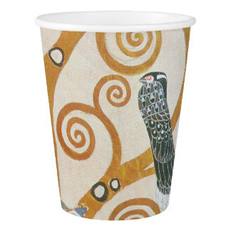 Gustav Klimt The Tree Of Life Art Nouveau Paper Cup