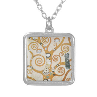 Gustav Klimt The Tree Of Life Art Nouveau Silver Plated Necklace